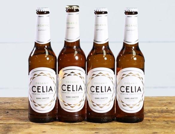 Organic CELIA beer bottles